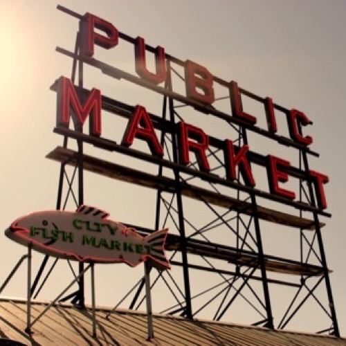 Seattle City Fish Market Sign